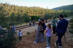 Hiking-Palestine-on-railroad-boarder