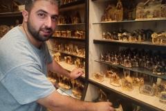 Elias-Abu-Zuluf-in-olive-wood-carving-shop