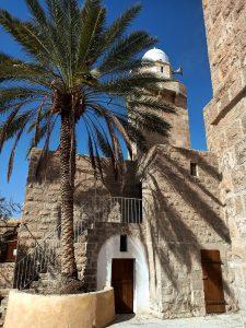 In the courtyard of Maqam Nabi Musa shrine Moses